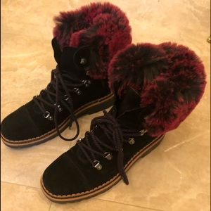 Sam Edelman boots with fur